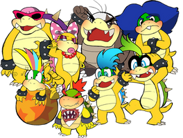 Bowser's Illegitimate Children by Obsequious-Minion