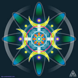 Mandala  Marine Light - INKSCAPE