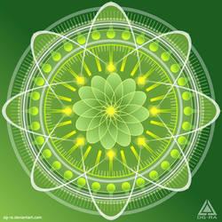 Mandala Verde Sprite - INKSCAPE