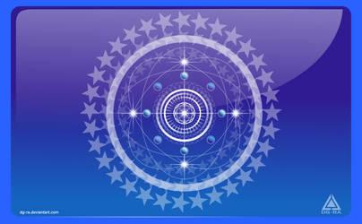 Mandala Azul Estelar - INKSCAPE