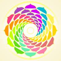 Mandala Happy Colors - INKSCAPE