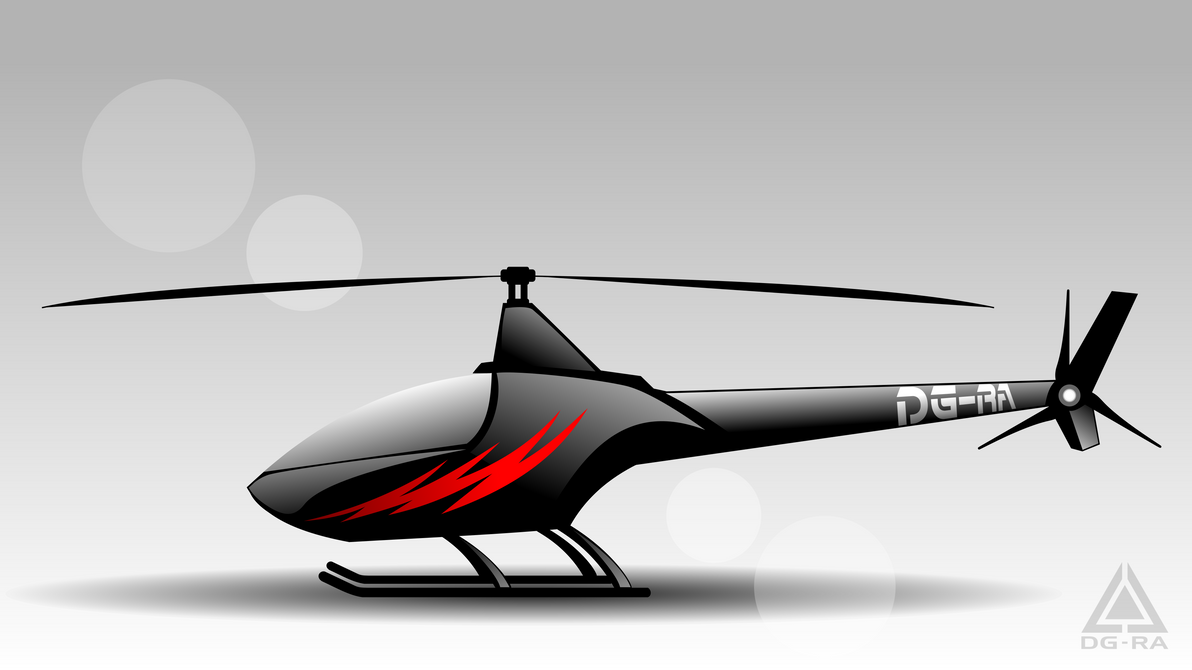 Black HELICOPTER HQ - INKSCAPE by DG-RA