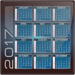 Calendar 2017 - English Version - INKSCAPE