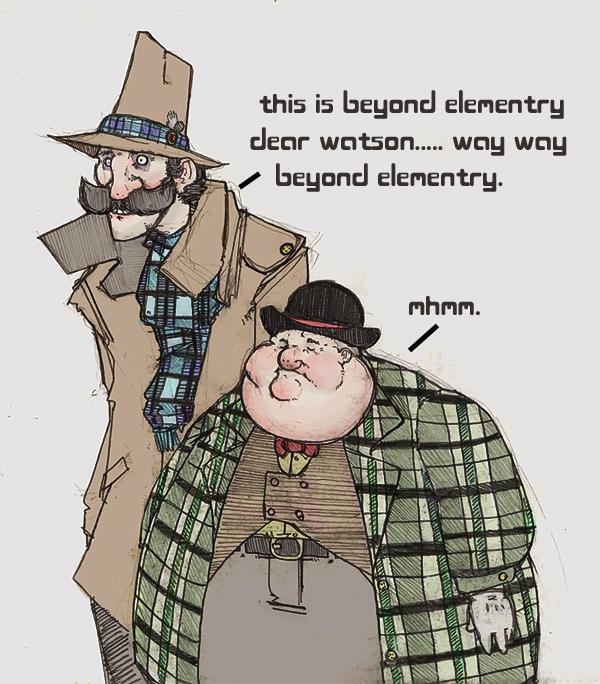 Sherlock and Watson by MechanicalLion