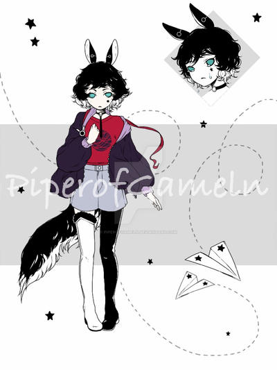 CLOSED] Adoptables Auction 76 - Black Rabbit by PiperOfGameln on