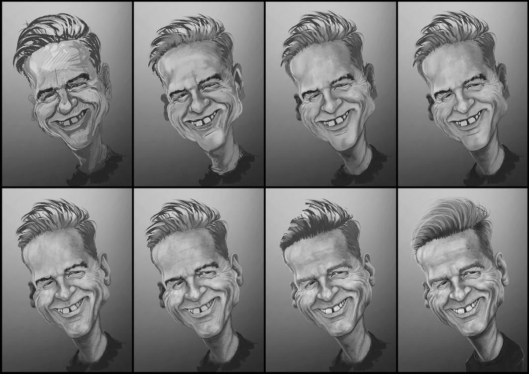 Bryan Adams caricature WIP by grafik1991