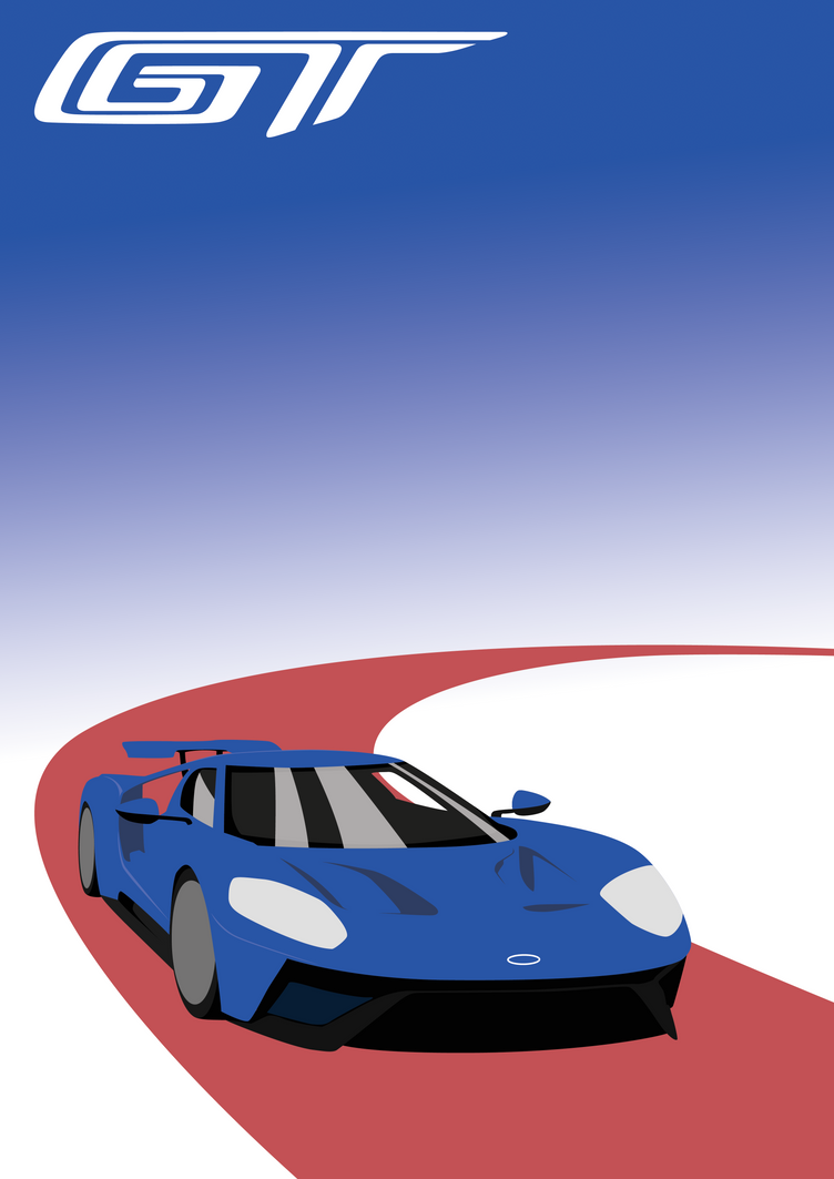 Ford Gt Poster By Thegiddything