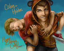 calvin and hobbes by shannonott