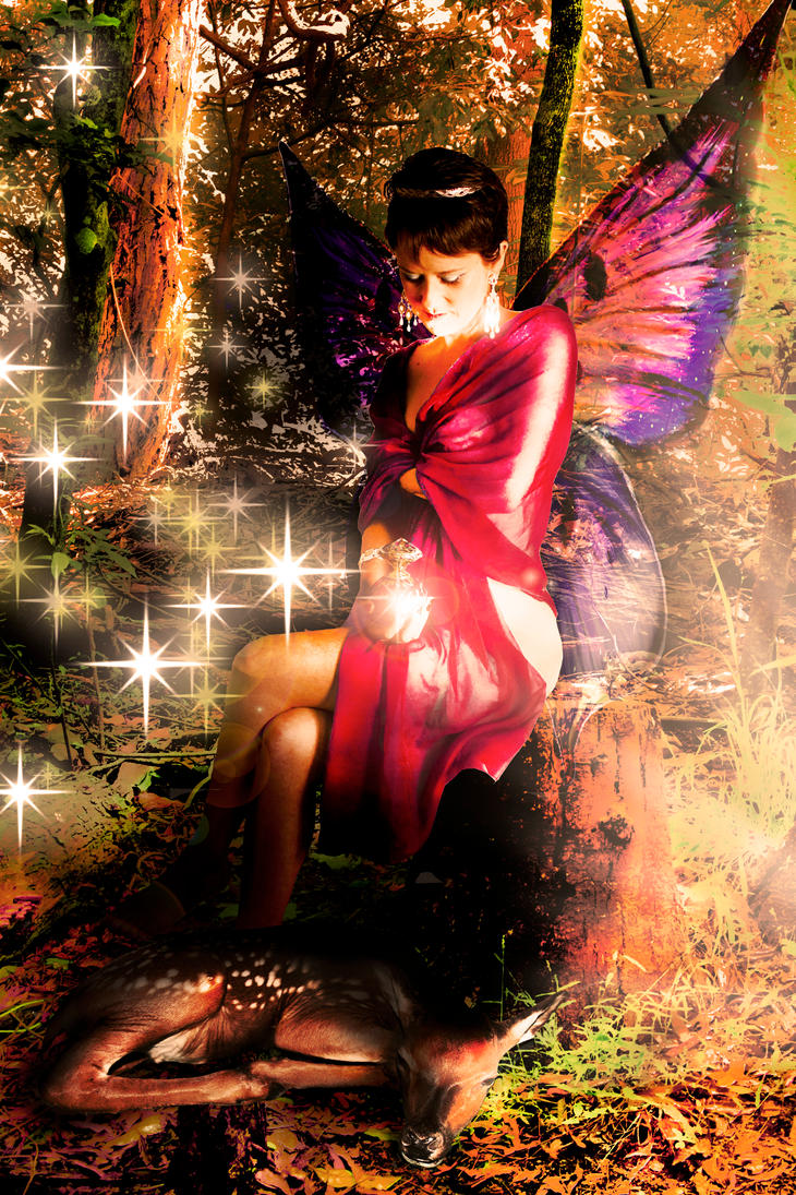 Forest Fairy.....my first eva manipulation eva by Jo-Lou-Quin