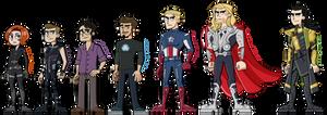 The Avengers plus Loki
