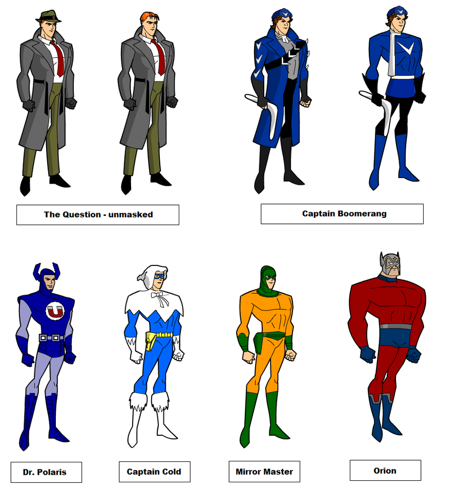 Cartoon Characters Justice League : Justice league unlimited rare by fastferrari on deviantart
