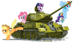 Mane Six on T-34