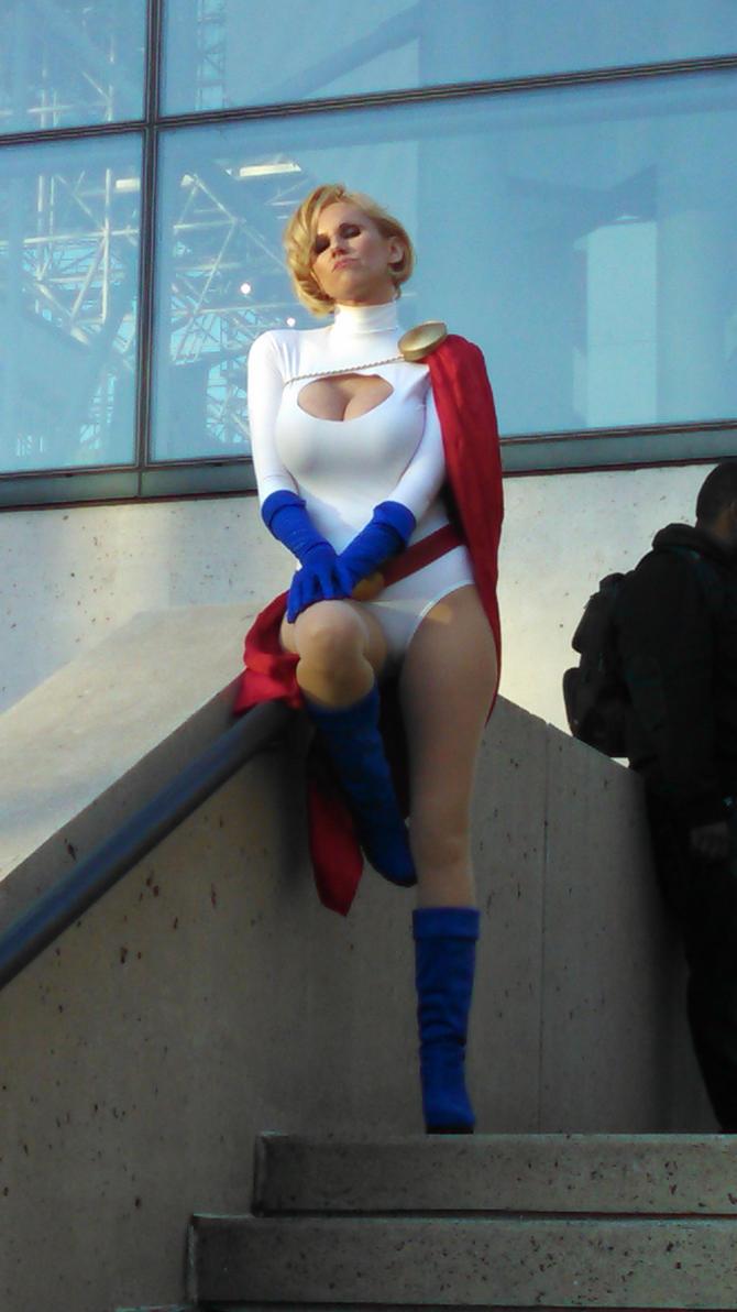 New York Comic Con 2014 - Powergirl by Mareklos