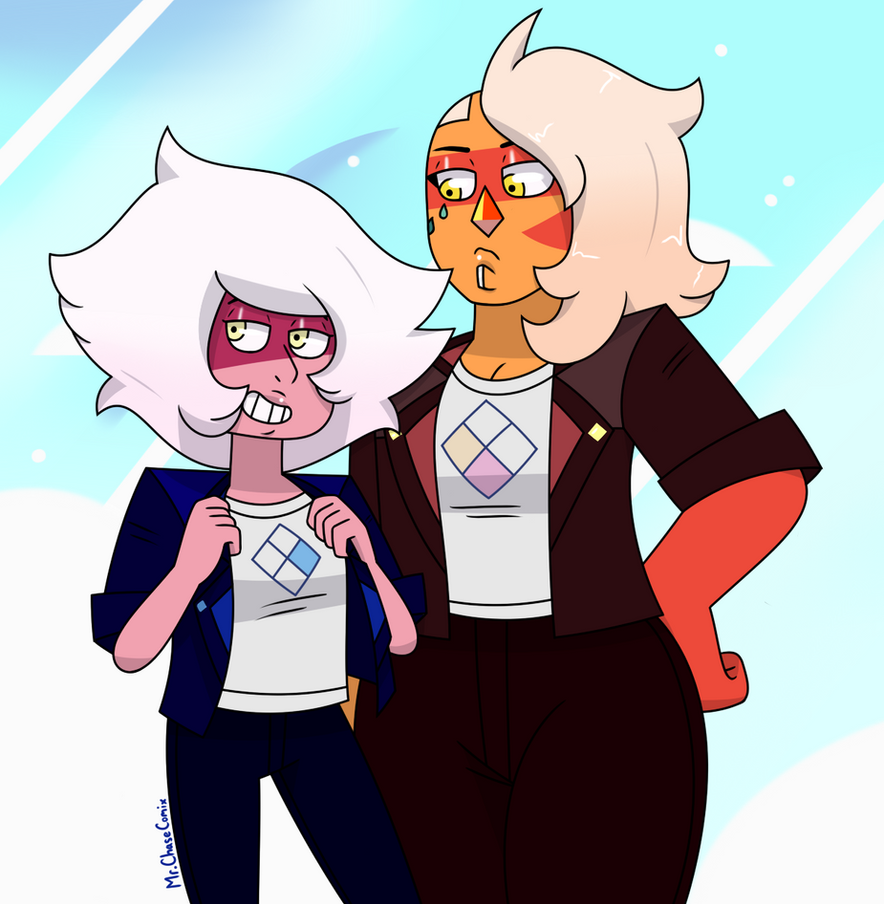 I've been wanting to draw Punk Jasper for a while now. I also wanted to give Skinny the punk outfit for the fun of it.