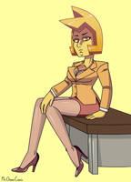 Professional Yellow Diamond (Pinup Style) by MrChaseComix