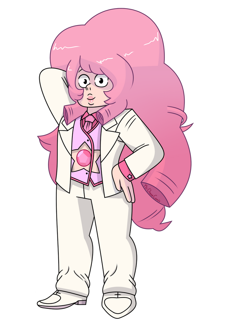 Suited Rose Quartz by MrChaseComix