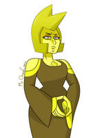 Yellow Diamond (Blue Diamond's Outfit) by MrChaseComix