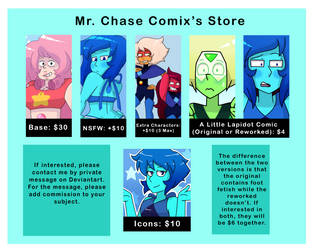 Mr. Chase Comix's Commissions (Read Description) by MrChaseComix