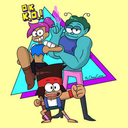 K.O., Enid, and Rad (T-Shirt Design)