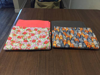 Cat and floral themed pillowcases
