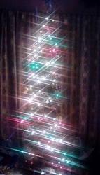 Beanpole Christmas tree