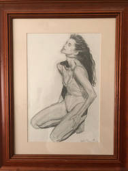 Elle - The Original Drawing by EnlightArtment