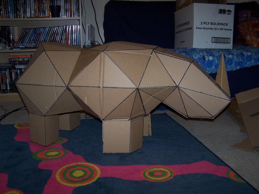 Cardboard Rhino 1