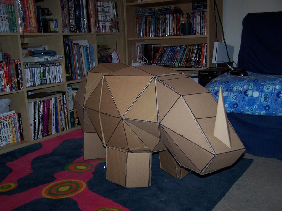 Cardboard Rhino 2