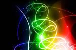 Abstract Rainbow Glow