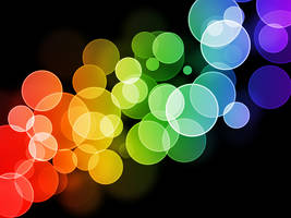 Rainbow Bokeh Wallpaper by GENAYNAY