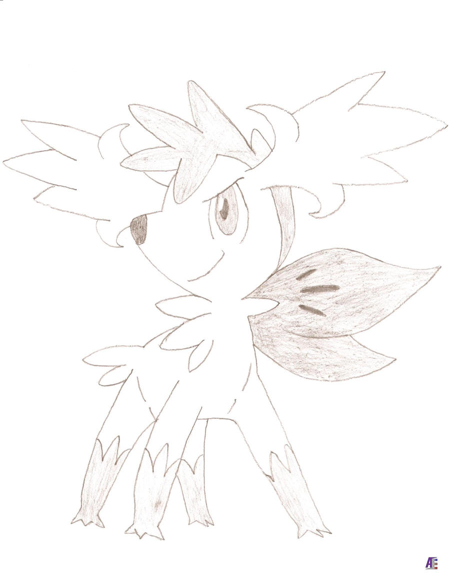 how to draw shaymin sky form