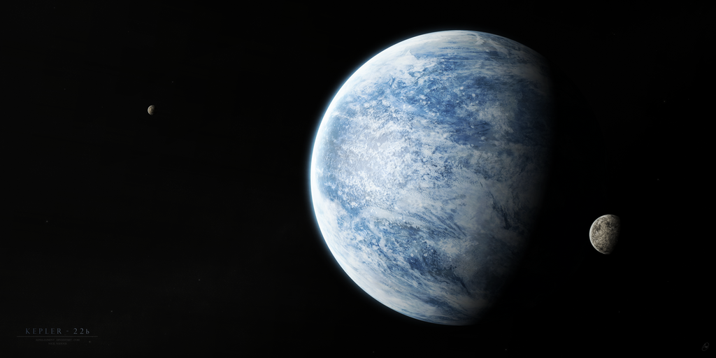 Kepler - 22b V.2 by Alpha-Element