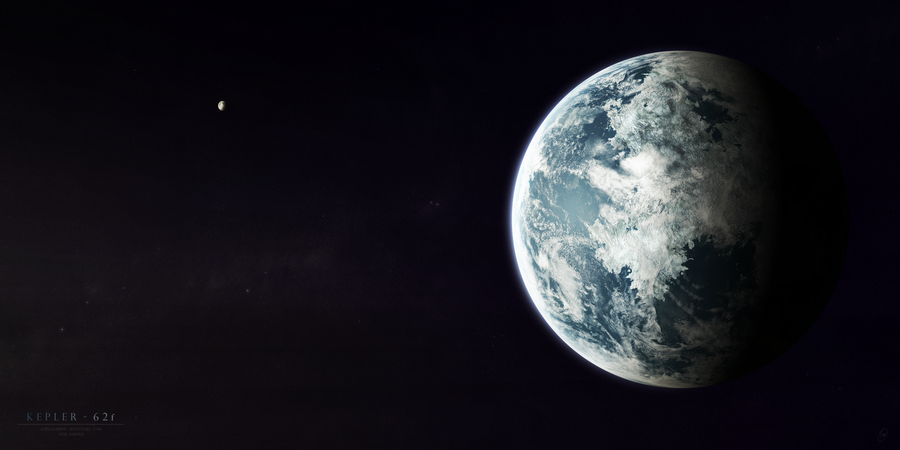 Kepler-62f by Alpha-Element