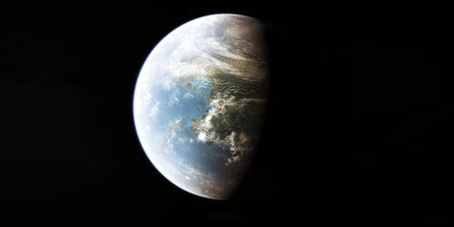 Kepler-442b by Alpha-Element