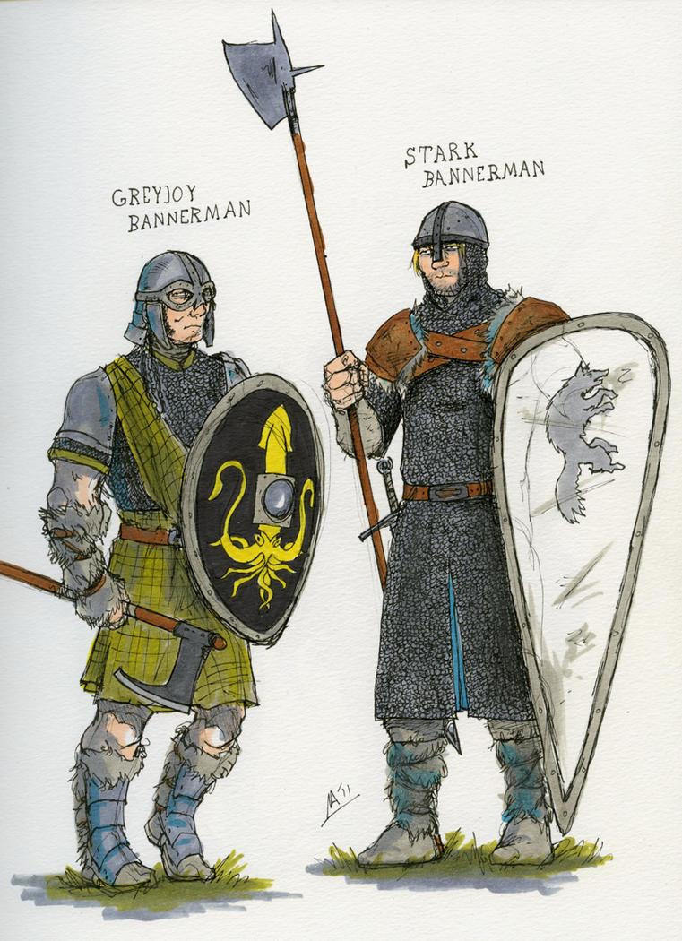 SOIAF bannermen sketches I by Tribemun