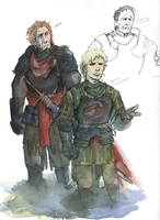 ASOIAF sketches -The Golden Company by Tribemun