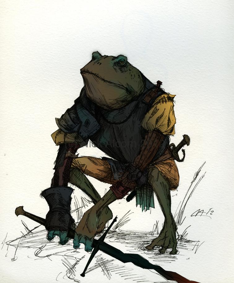 frog sketch II by Tribemun