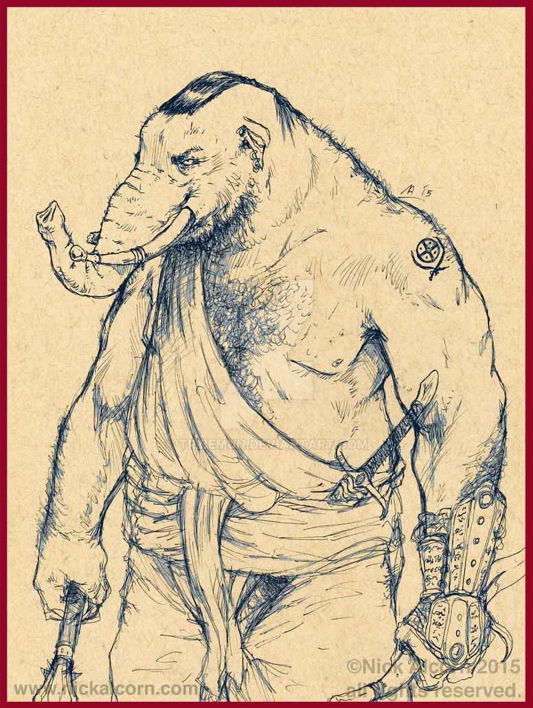 Elephant Warrior by Tribemun