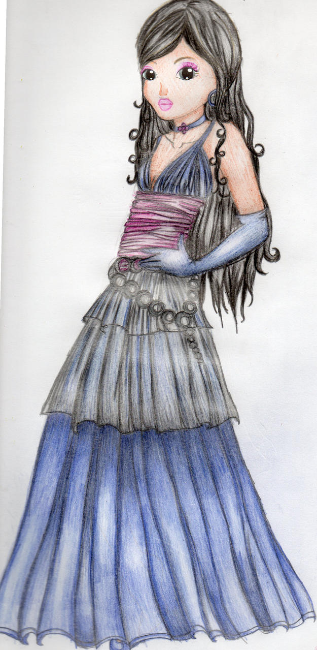 Gothic style dress by xtessa1