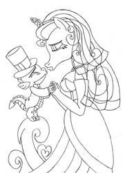 ManeiSpike Wedding - Final Sketch by Supra80