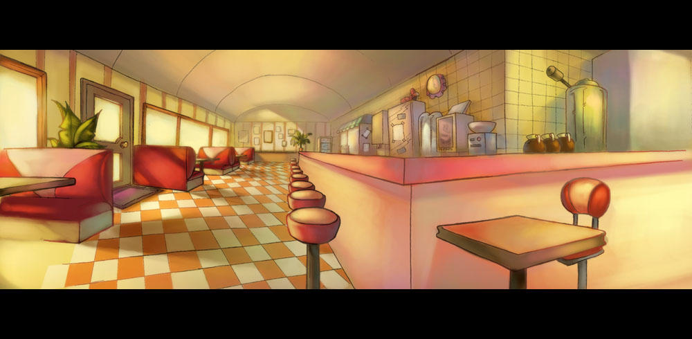 Diner layout painting 3 by chanpart on deviantart for Diner painting