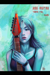 The Red Guitar by ChanpART