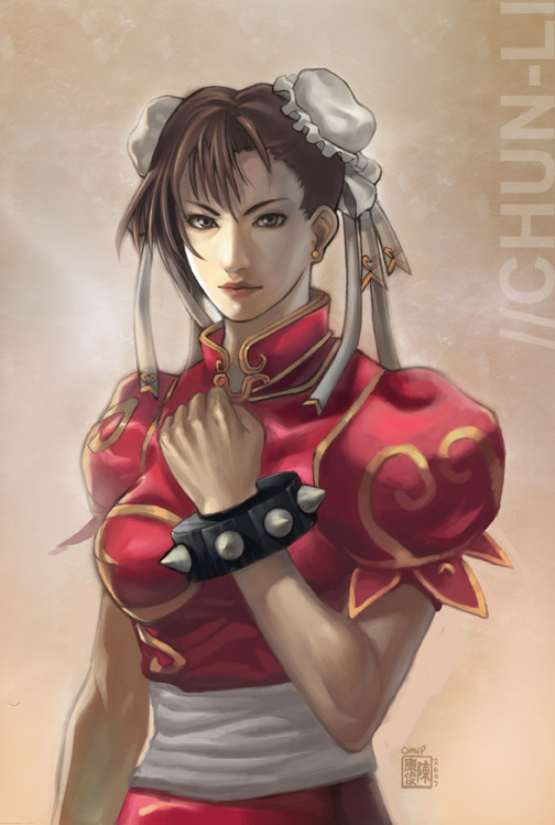Red Dress Chun Li by ChanpART