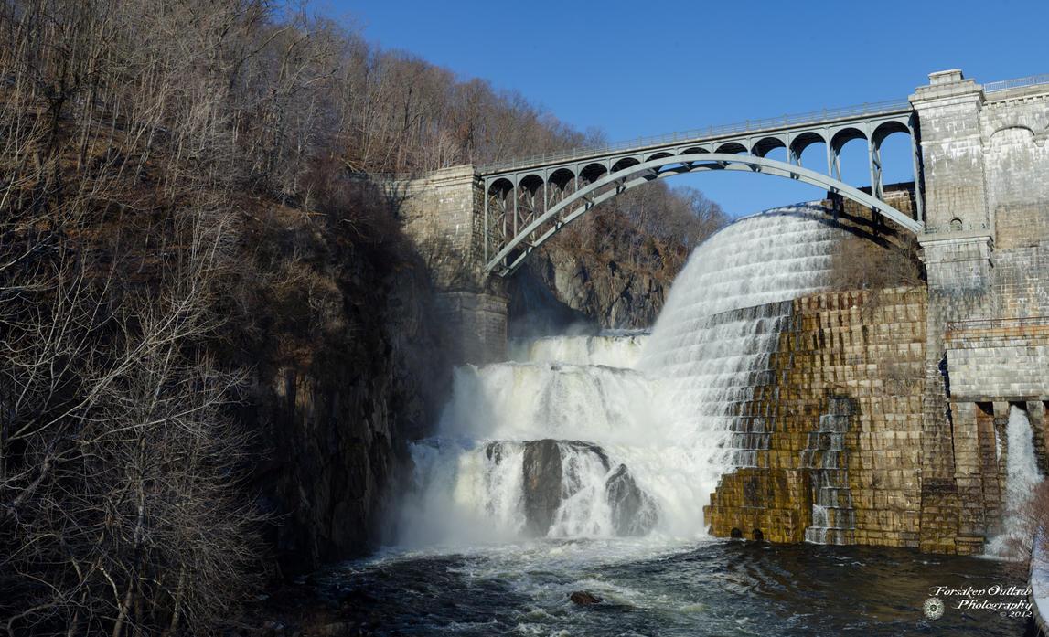 New Croton Dam Waterfall by ForsakenOutlaw