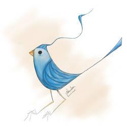 blue bird by wanderlima