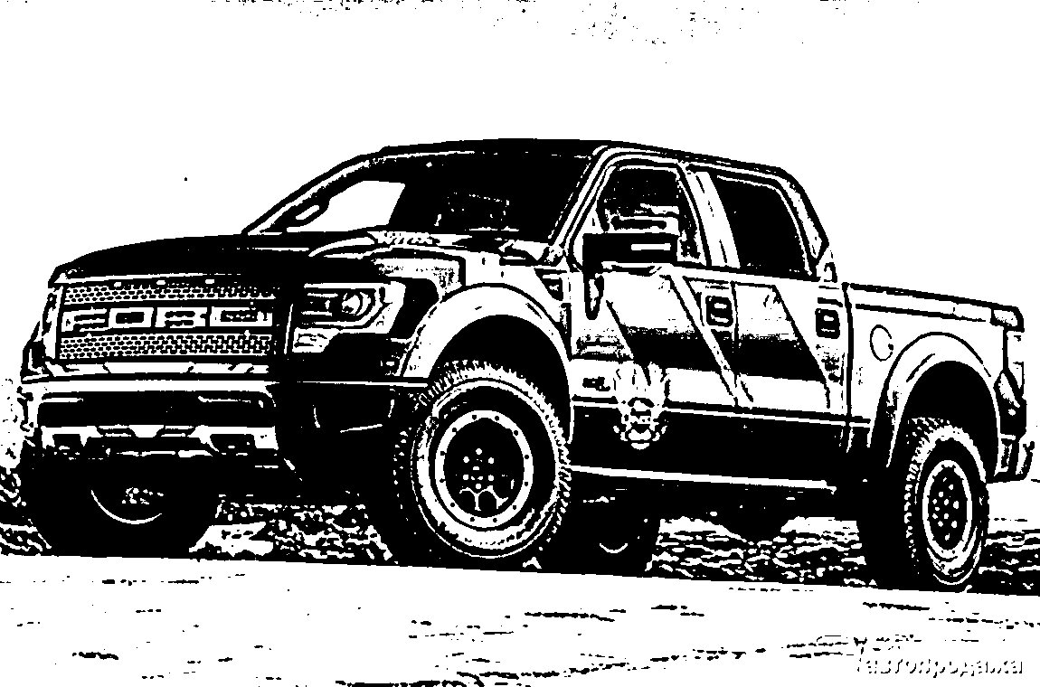 Ford f150 truck coloring pages - Clamart