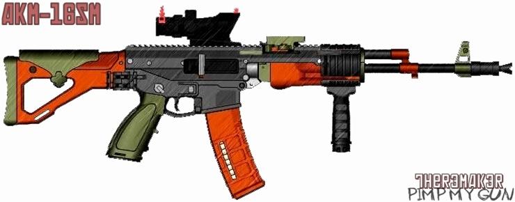 (№2) AKM-16SM (pimp my gun) by TheR3MAK3R