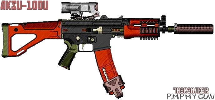 (№3) AKSU-100U (pimp my gun) by TheR3MAK3R