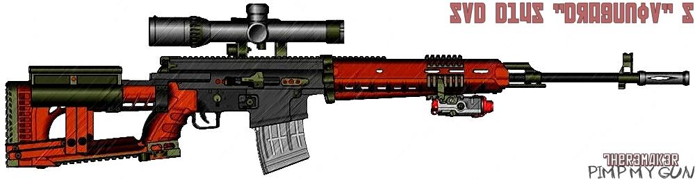 (№4) SVD D14S ''Dragunov'' S (pimp my gun) by TheR3MAK3R