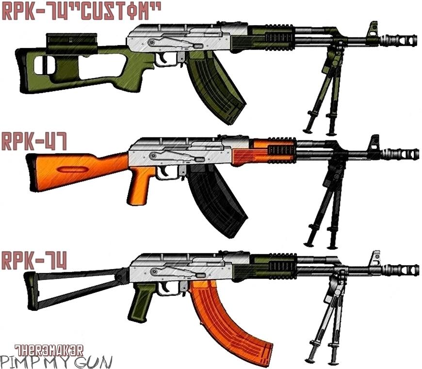 (№7) AK-RPK Famliy (pimp my gun) by TheR3MAK3R